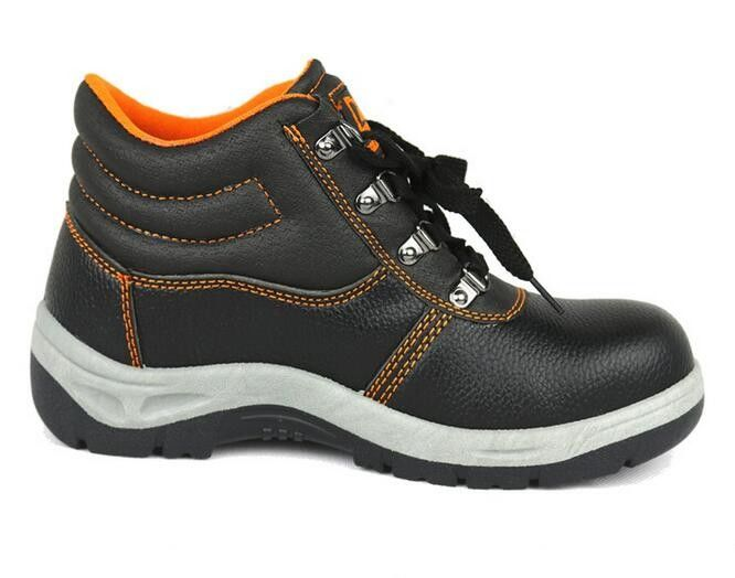Suede Leather Upper Non Slip Work Shoes Double Density PU Injection Out Sole